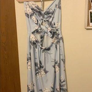 Long blue sun dress!